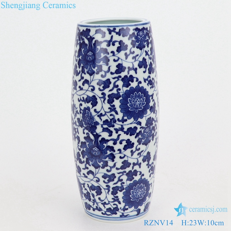 Beautiful blue and white pen tube small vase