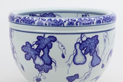 RZNV18-B Blue and white gourd grain circular cylinder jingdezhen blue and white ceramic articles decorations