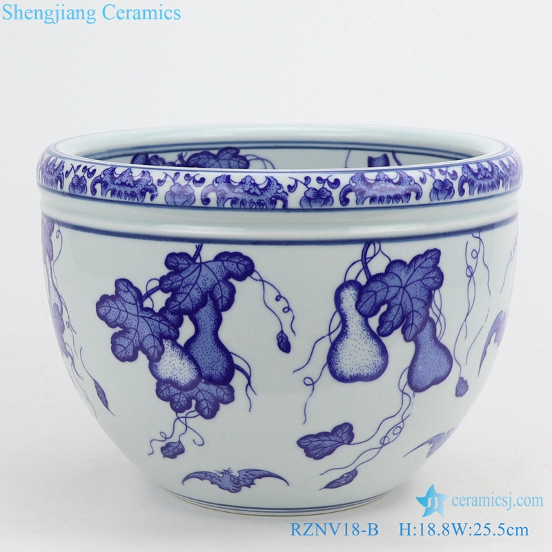 blue and white ceramic articles for daily use
