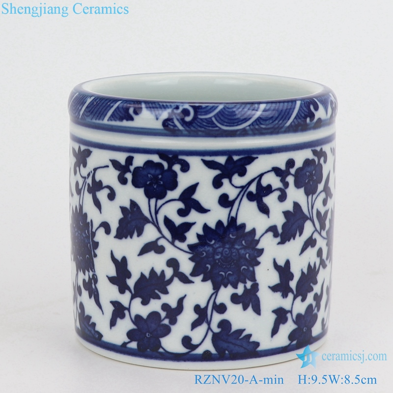 Beautiful traditional ceramic pen holder mini size