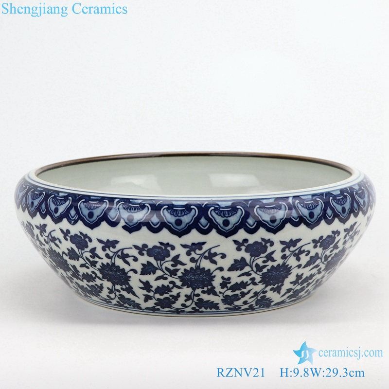 Jingdezhen porcelain blue and white wash shallow