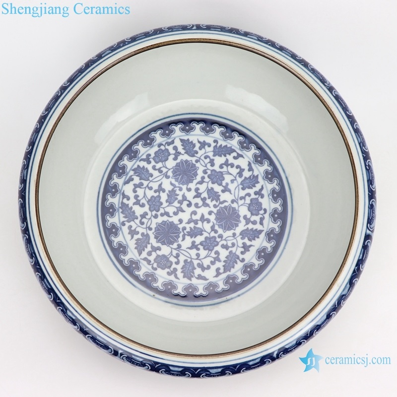 shengjiang ceramic wash water shallow top view