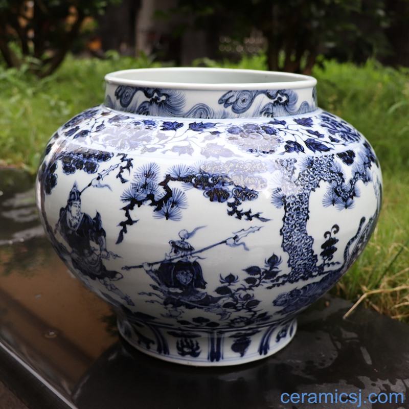 Jingdezhen Ceramic Archaize Do Old Hand Painted Yuan Dynasty Blue And White Porcelain