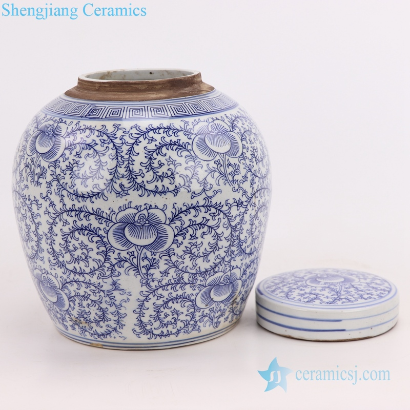 Chinoiserie Style Ceramics Tea Canister Tea Storage Bottle detail