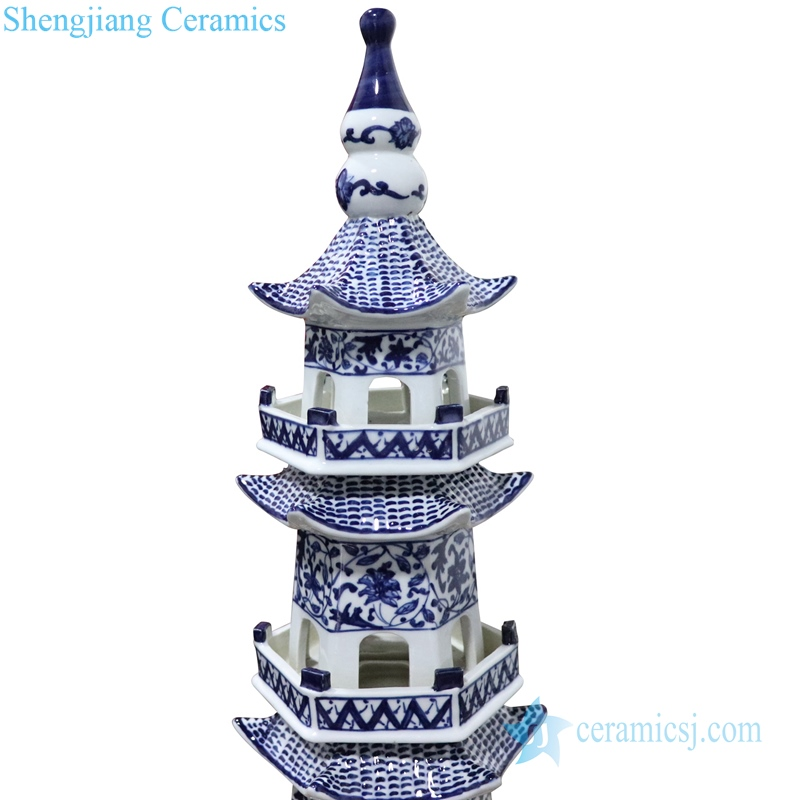 porcelain pagoda decoration living room top view