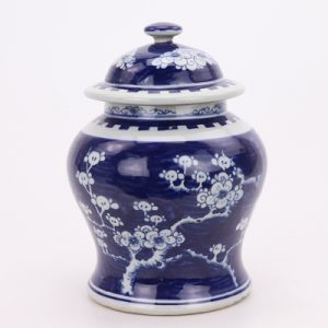 RZPI44 Blue and white Chinese style storage jar planting jar groceries fang jewelry candy storage jar family organizer decoration