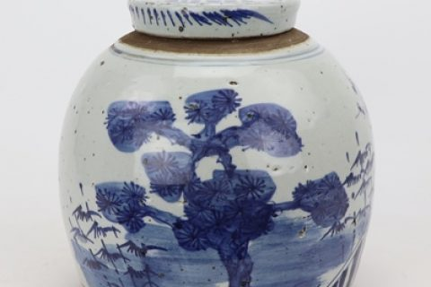RZPI45-A Storage of tea canisters Chinese style traditional ceramic antique to do old blue and white pine and bamboo plum pot