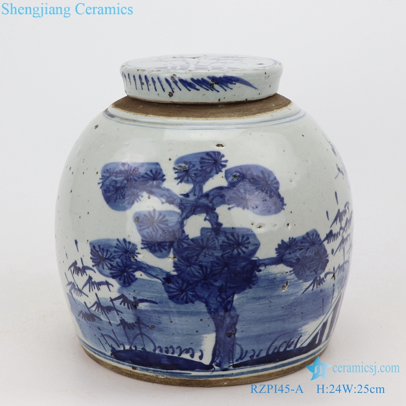Storage of tea canisters Chinese style front view