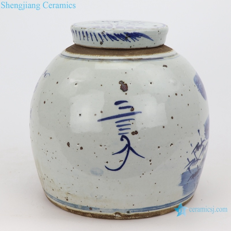 ceramic antique to do old pine and bamboo plum pot