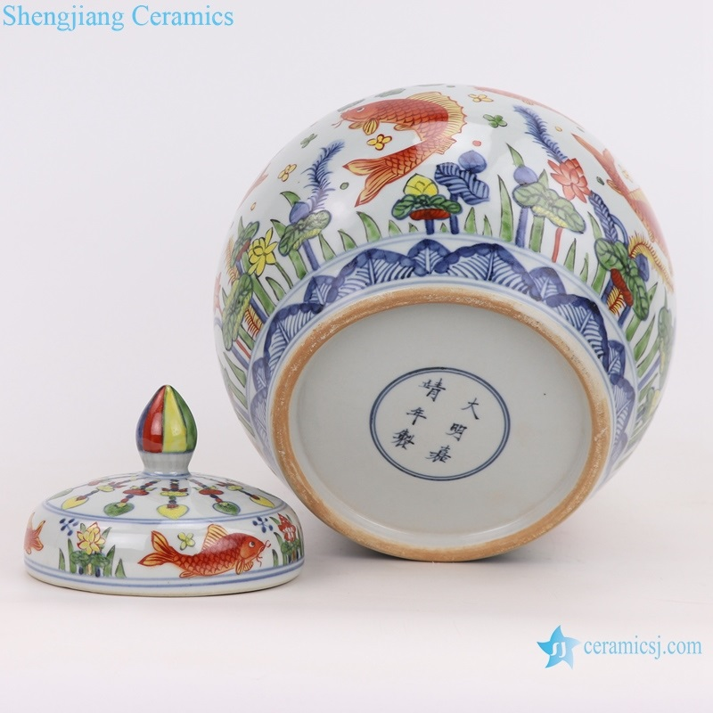 archaize hand-painted multicolored storage tank