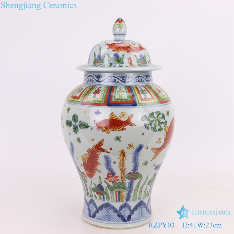 tea canister decoration jingdezhen Chinese ceramics
