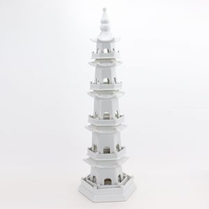 RZPi42-midd Daily decoration household furnishing pieces of Chinese ceramics furnishing works of art white five-story pagoda in size