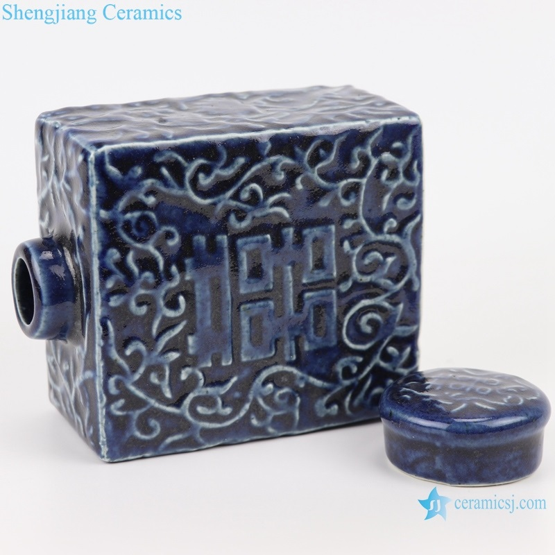 lid tea canister Chinese style ceramic art pieces