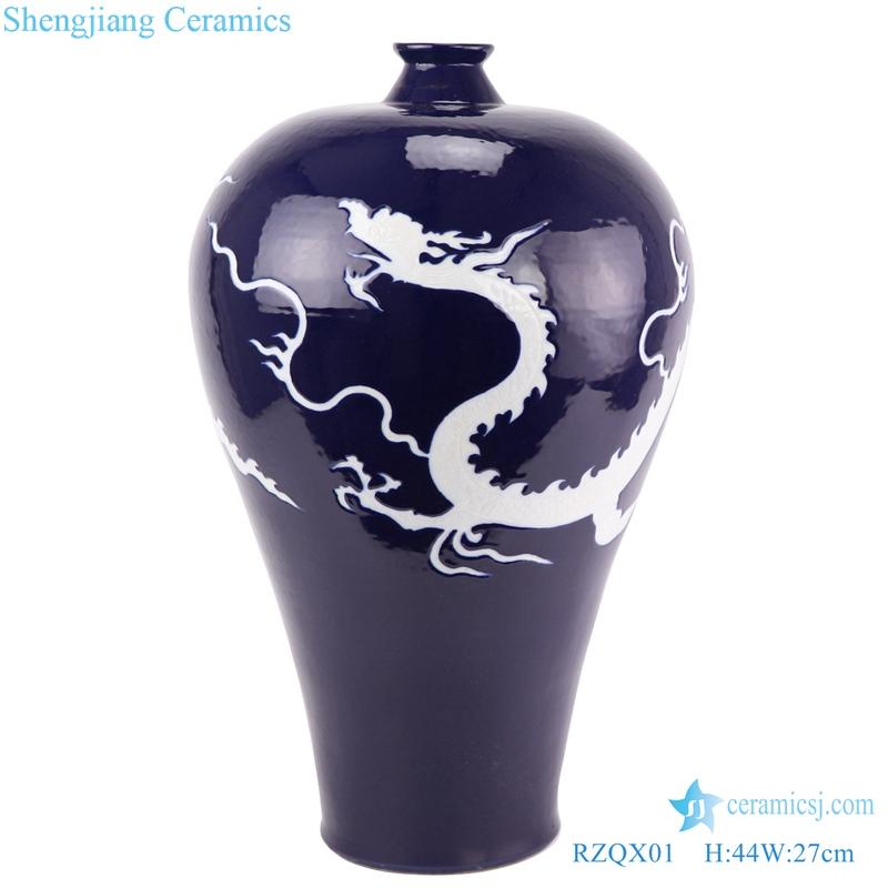Chinese new Chinese ceramic decoration vase blue