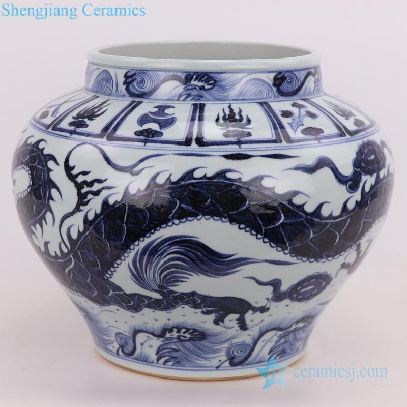 Traditional exquisite smooth dragon ceramic