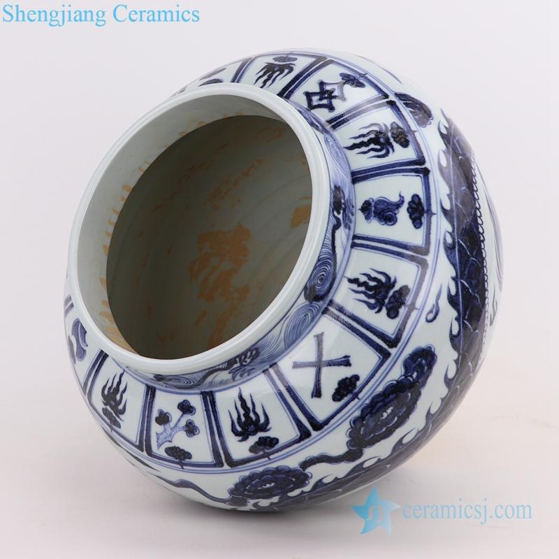 dragon ceramic pots porcelain kitchenware inside