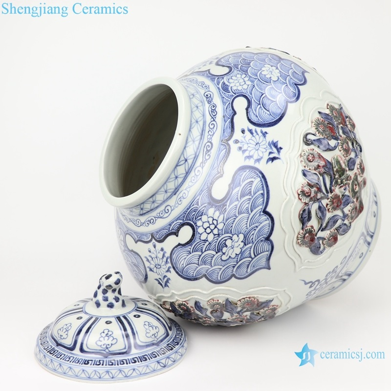 Ceramic pot ceramic art works art pieces Chinese style big pot