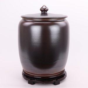 RZRA01 Color glaze tea glaze miso color with lid caddy storage tank Chinese ceramic decoration