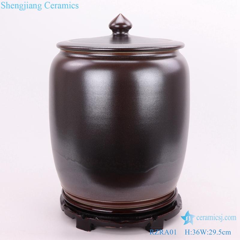 Color glaze tea glaze with lid caddy storage tank