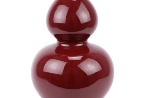 RZRB01 Beautiful new Chinese style ceramic red glaze gourd bottle red vase decoration