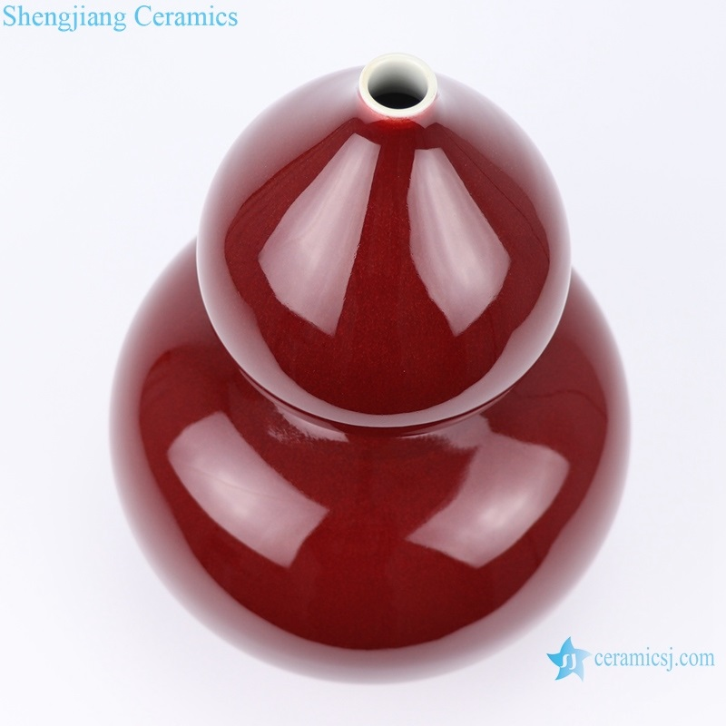 Beautiful new Chinese style ceramic red glaze top view