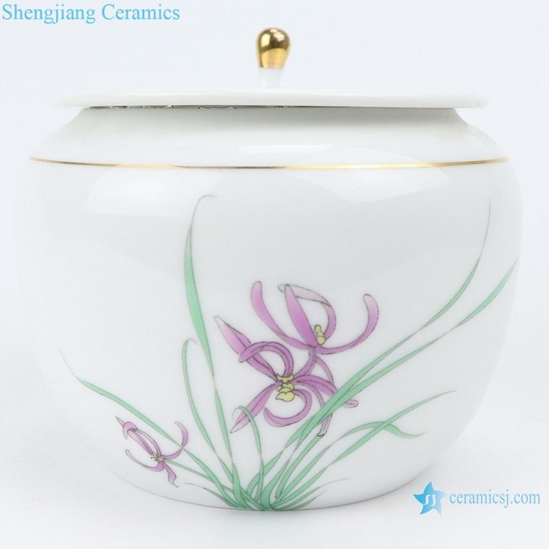pu 'er tea pot ceramic orchid tea pot with cover