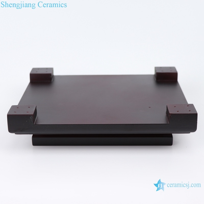 shengjiang dark red double layer rectangular base bottom