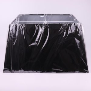 RZRG01 Chinese exquisite matte black square lamp base high quality