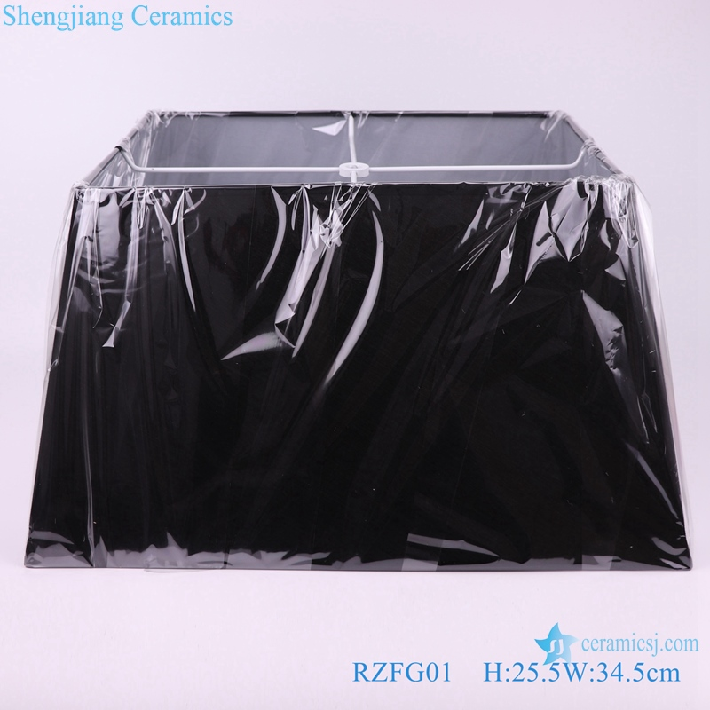 shengjiang exquisite matte black square lamp base