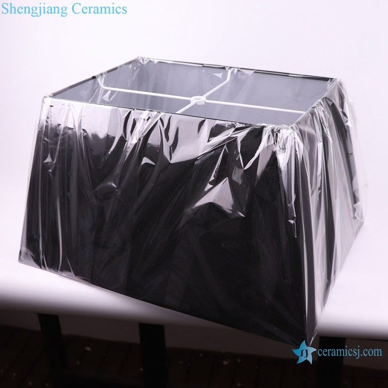 matte black square lamp base high quality