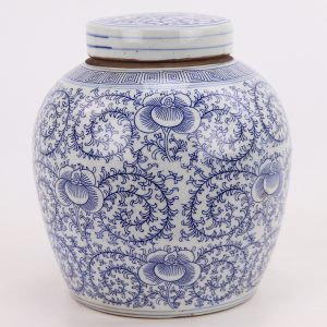 RZPI24-E Chinoiserie Style Ceramics Tea Canister Tea Sugar Spice Storage Jar Porcelain Jars for Spices Storage Tank Tea Storage Bottle