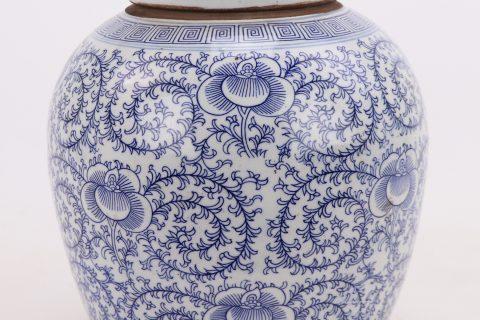 RZPI24-E Chinoiserie Style Ceramics Tea Canister Tea Sugar Spice Storage Jar Porcelain Jars for Spices Storage Tank Tea Storage Bottle