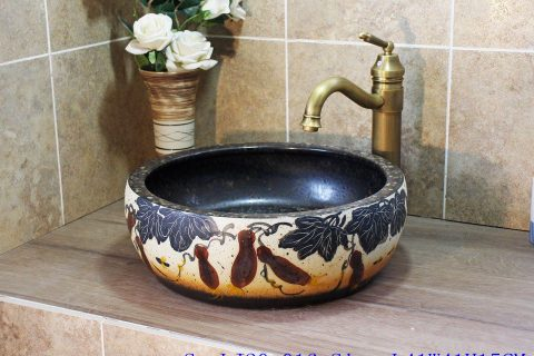 LJ20-016 Classic water color blue wash basin