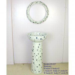 sjbyl120-027 Restaurant Nesting basin - Dirt spot porcelain pedestal sink