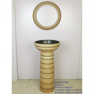 sjbyl120-041 Restaurant Nesting basin lighthouse porcelain pedestal sink