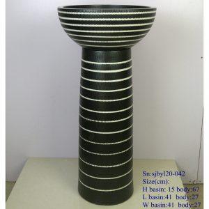 sjbyl120-042 Restaurant Nesting basin spring porcelain pedestal sink