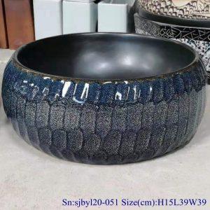 sjbyl120-051Pure hand made black flower glaze cearmic sink