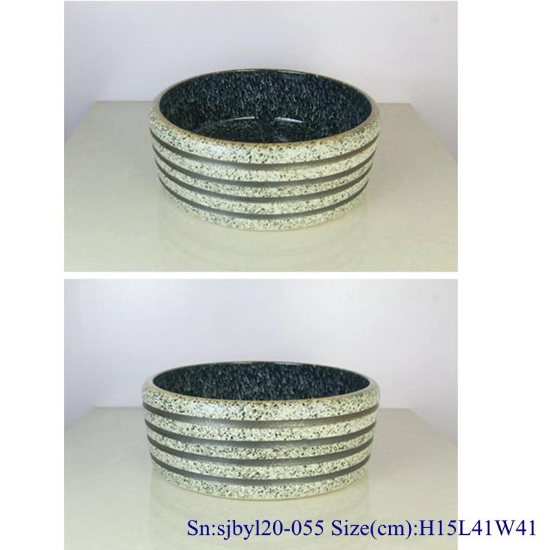 sjbyl120-055 Pure hand made Snowflakes pulled hoop cearmic sink