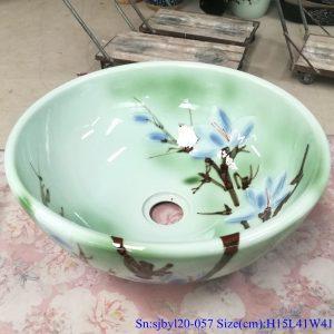 sjbyl120-057 Pure hand made Little magnolia cearmic sink