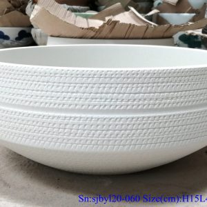 sjbyl120-060 Simply fashionable white glazed Matte procelain wash basin