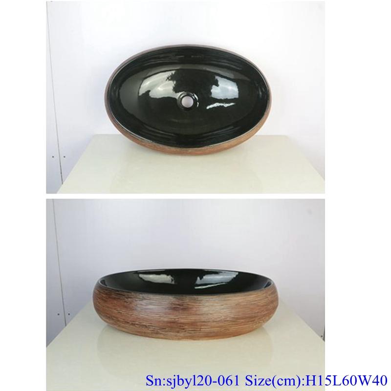 sjbyl120-061 Simply fashionable Sharply silk Matte procelain wash basin