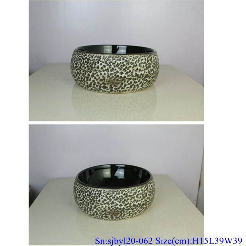 sjbyl120-062 Simply fashionable Sharply stones Matte Porcelain wash basin