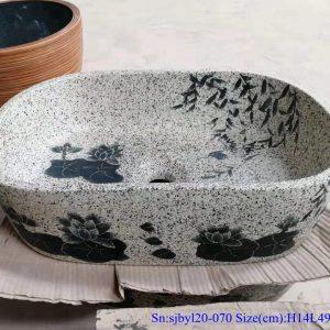 sjbyl120-070 China style antique Oval lotus leaf new Porcelain wash basin