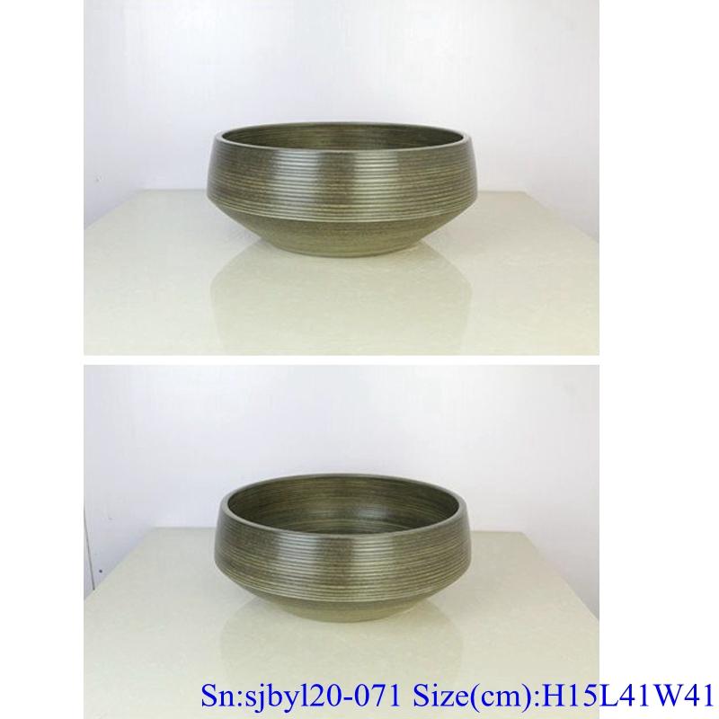 sjbyl120-071China style gyro round new Porcelain wash basin