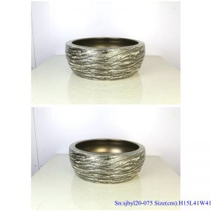 sjbyl120-075 China style - Table basin - Metallic glaze and electroplating series - Cast gold