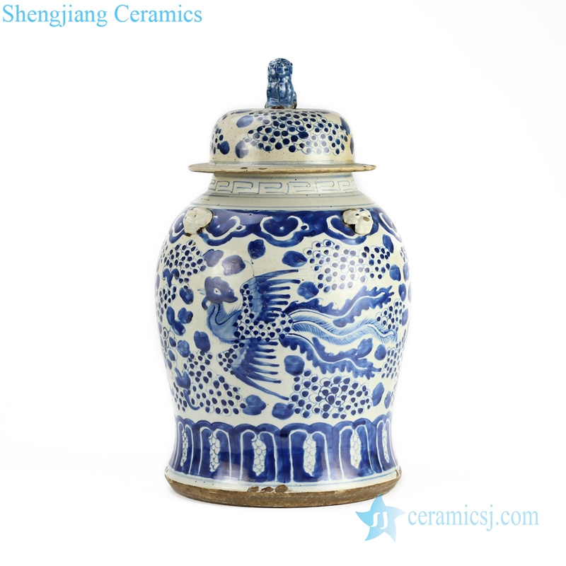 Blue and white general pot traditional handmade ceramics