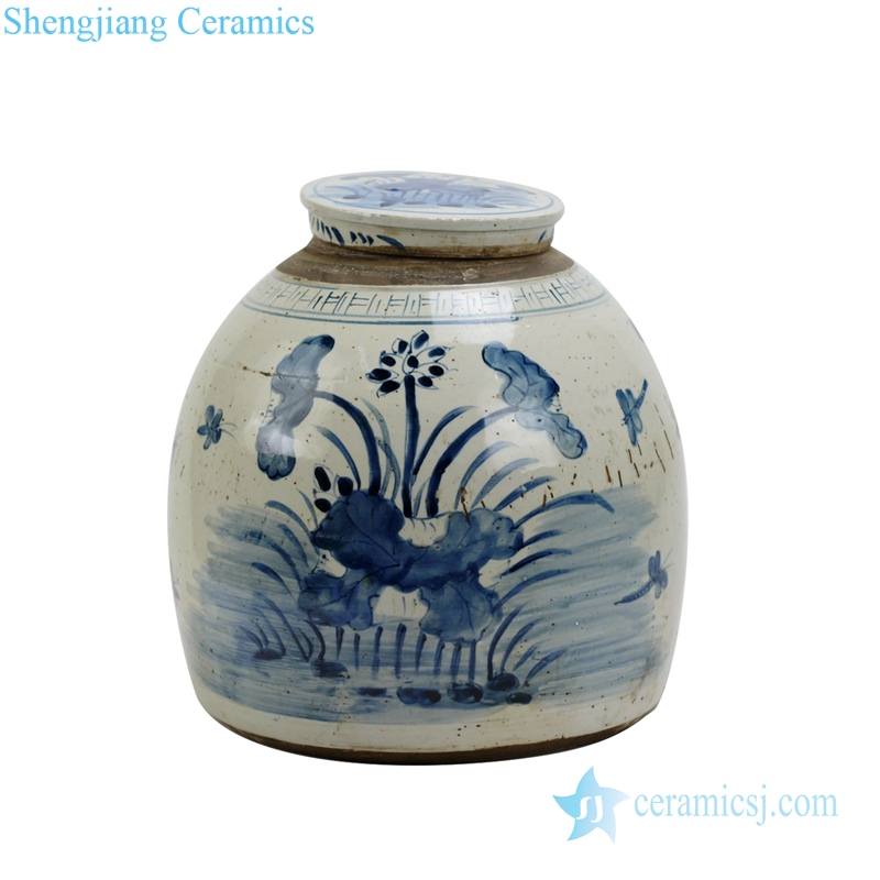 Blue and white tea pot traditional handmade porcelain