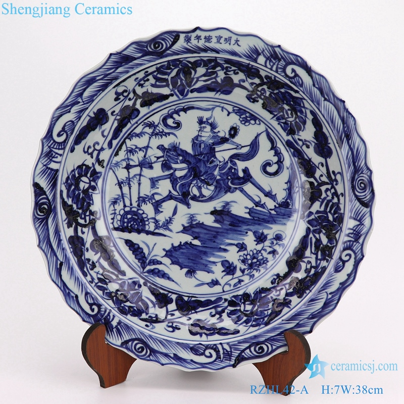 RZHL41-A Blue and white cearmic decorate plate