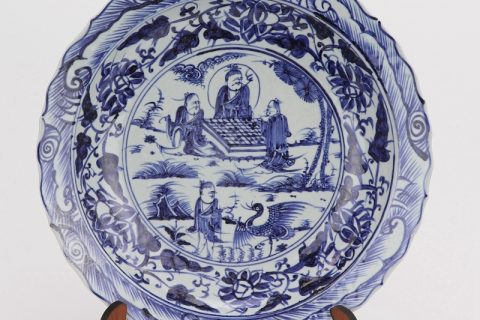 RZHL42- G Blue and white inmitation ming dynasty cearmic plate