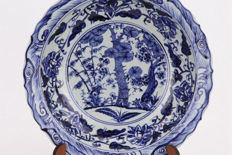 RZHL42- H Blue and white inmitation ming dynasty cearmic plate